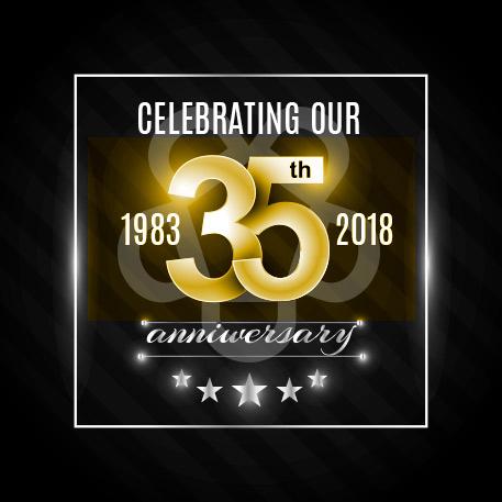 5D 35th Anniversary Logo