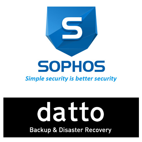 Sophos and Datto logos